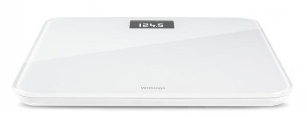 Billedet viser en badevægt fra Withings, modellen er WS-30 i farven hvid.