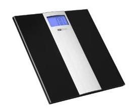 OBH personvægt sort m/alu
